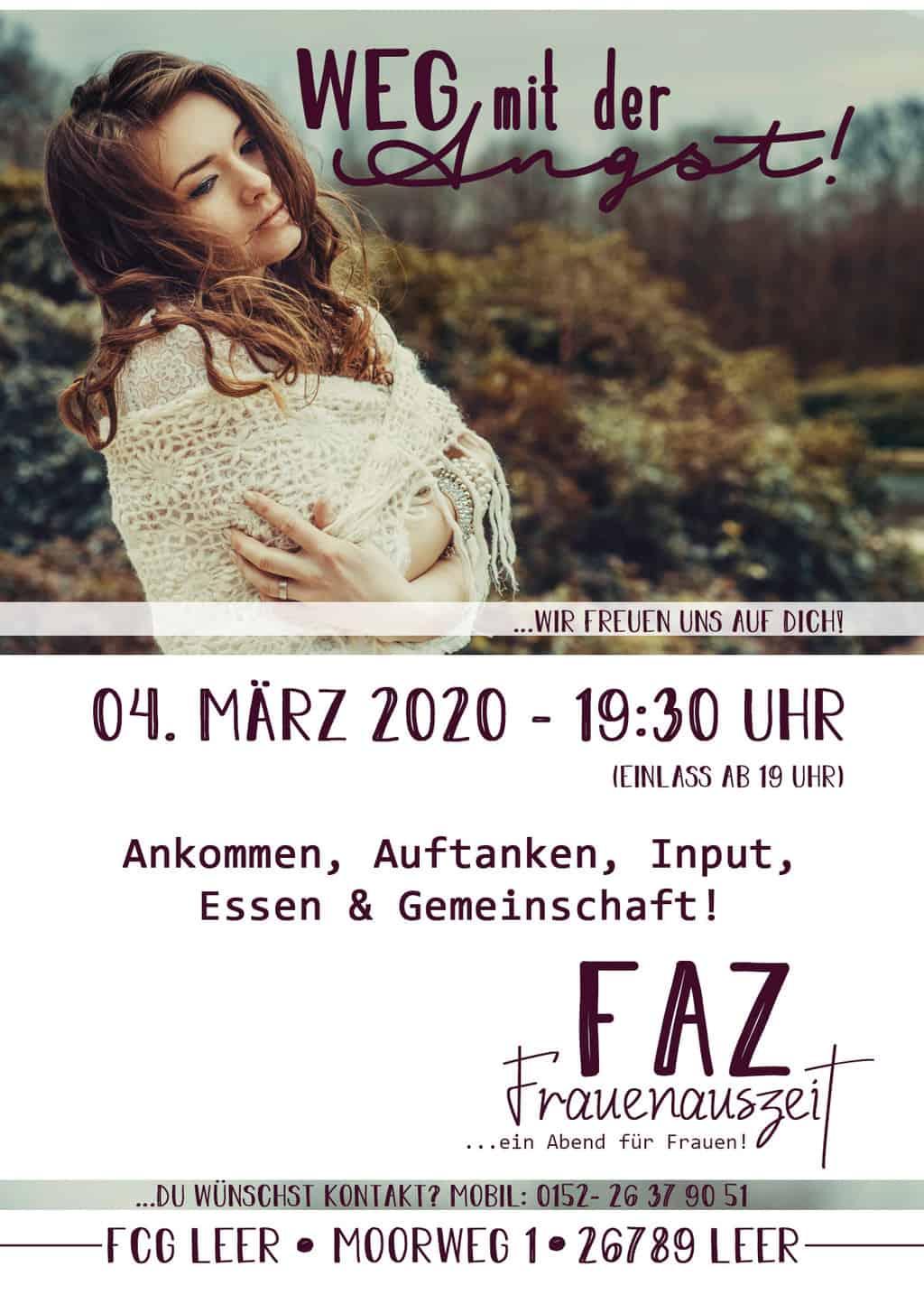 Einladung zur FAZ am 04. März 2020 in den Räumen der Freien Christengemeinde Leer